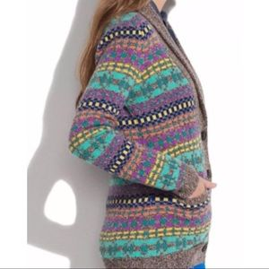 Madewell Wallace Color Track Merino Wool Cardigan